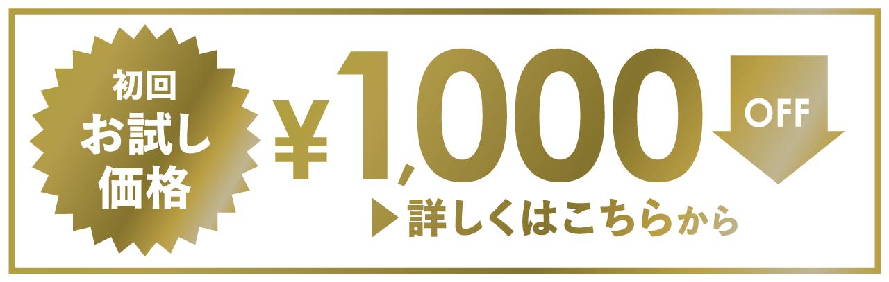 初回お試し価格 ¥1,000OFF 詳しくはこちらから