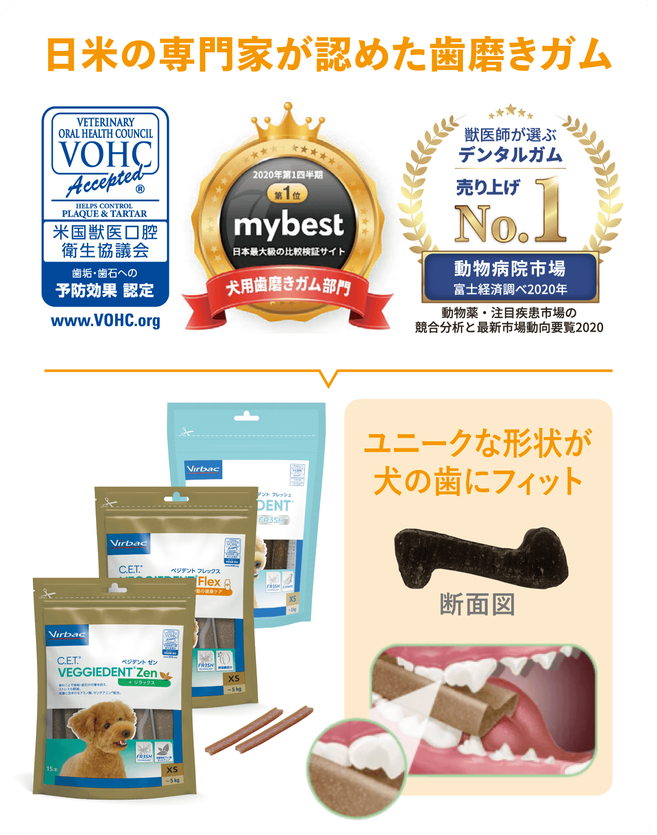日米の専門家が認めた歯磨きガム